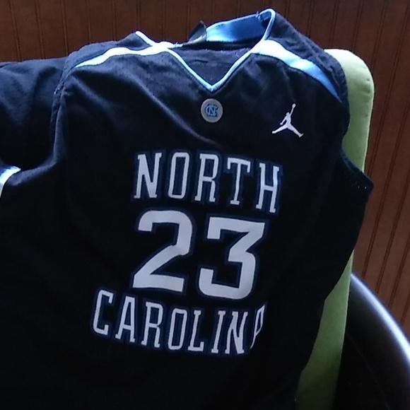 low priced 2a014 3a858 Black Michael Jordan UNC Basketball Jersey
